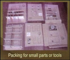 Packing small parts tools